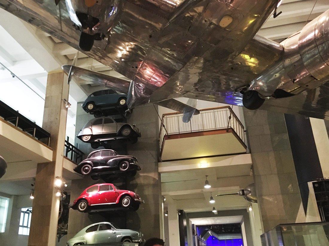 macchine e aerei al science museum di londra
