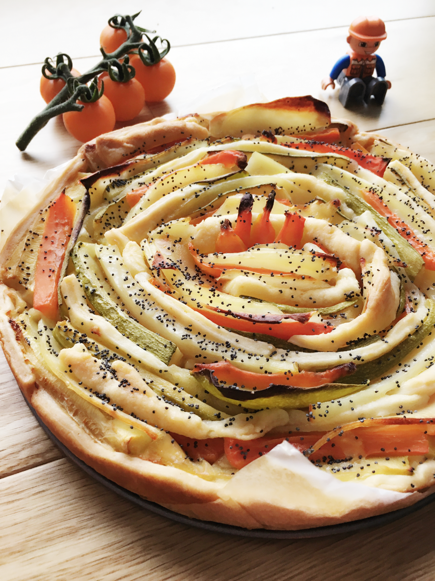 Vegetable Spiral Pie