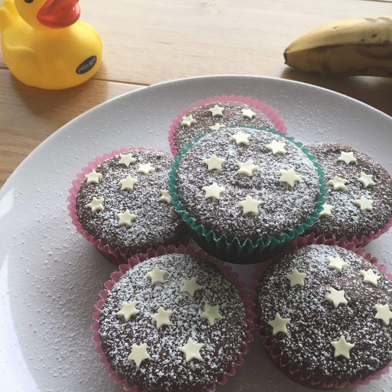 Muffins vegan banana e cioccolato