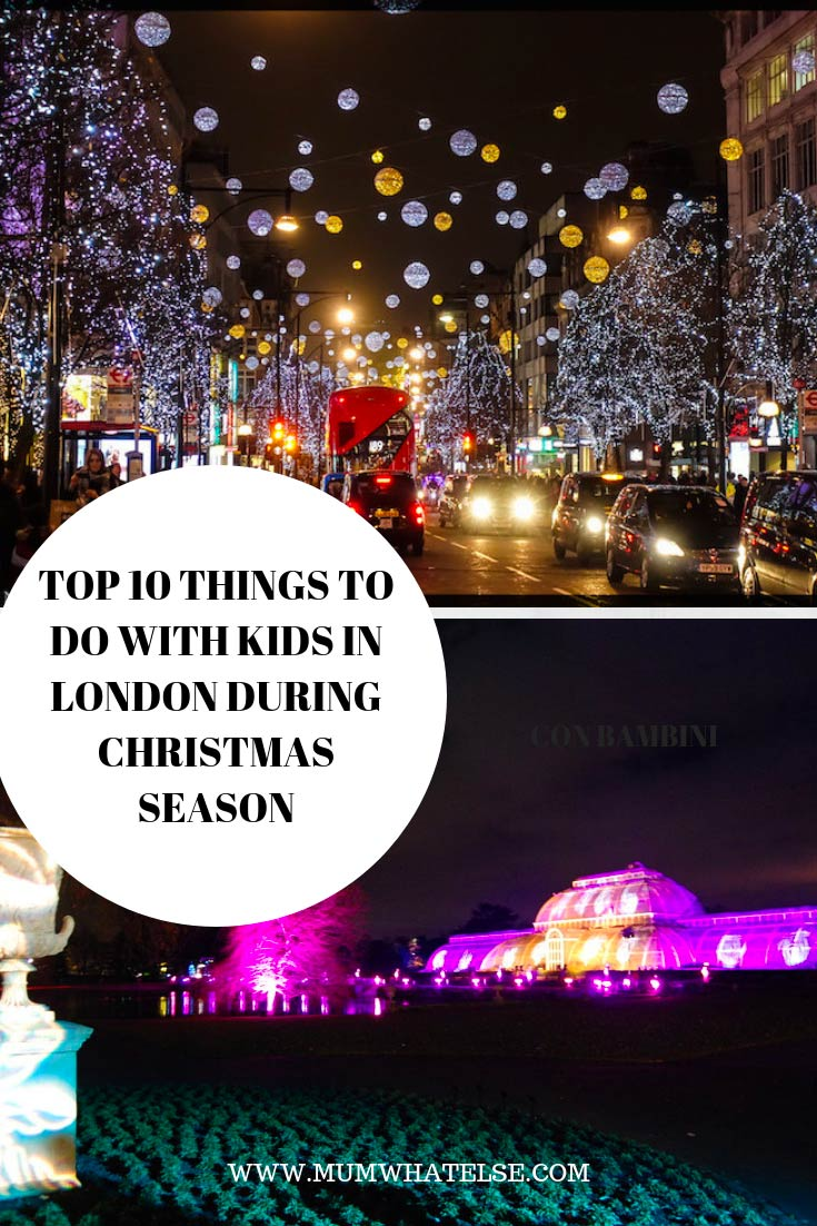 christmas in london with kids what to do