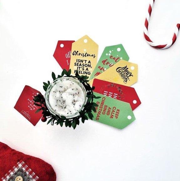 Scrub alla lavanda fai da te, idea regalo per Natale con free printable
