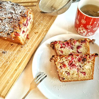 My top English Christmas recipe: the cranberry bread, an absolute keeper