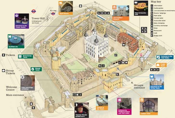 mappa della Torre di Londra
