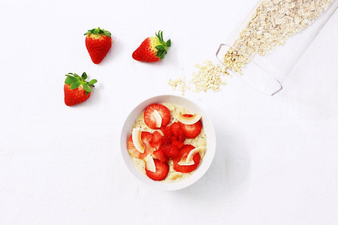 Mocha banana overnight porridge, la mia colazione inglese