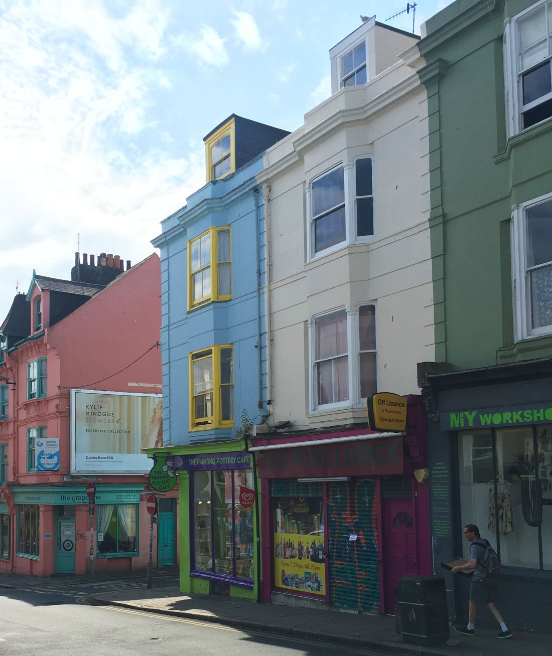 The colorful houses of Brighton