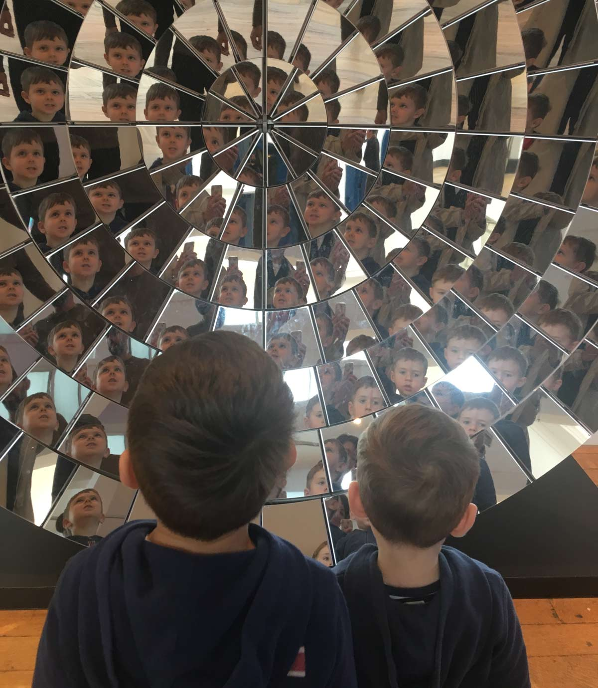 the fun mirrors at the science museum