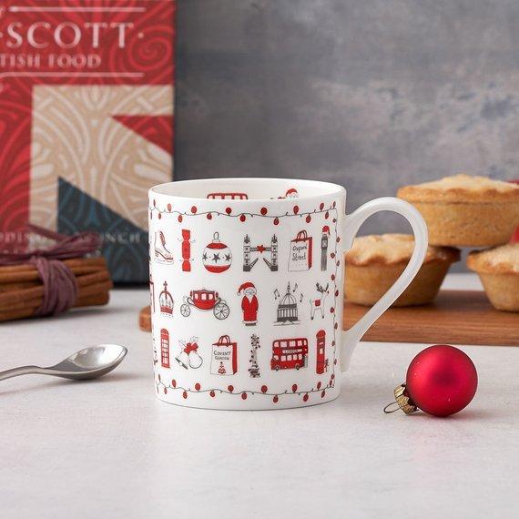 tazza di Natale a tema Londra