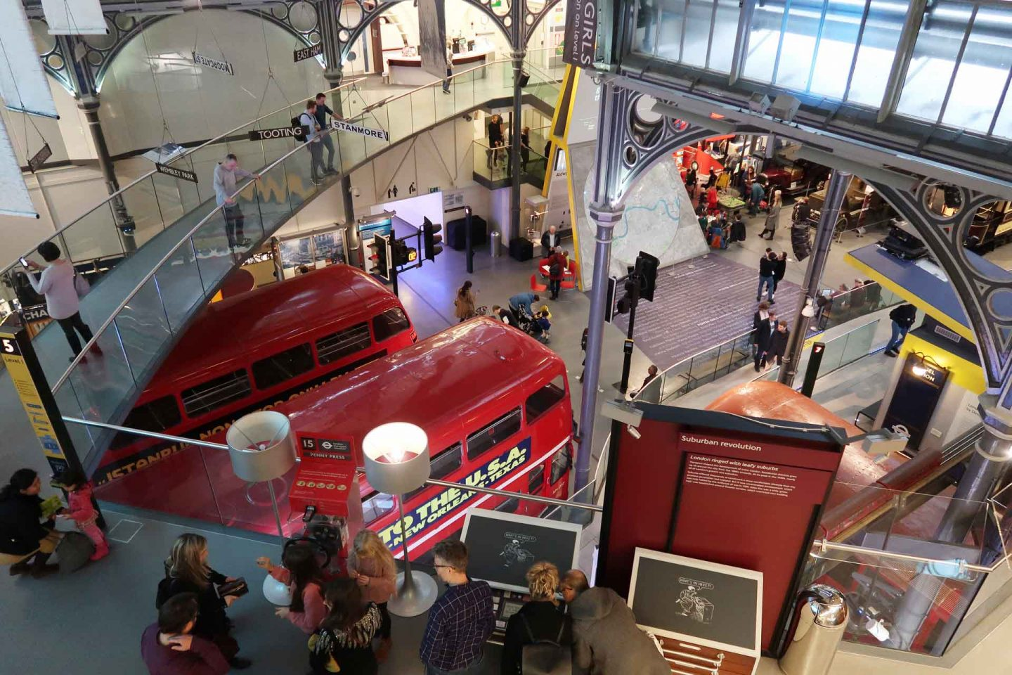 vista del london transport museum dall'alto