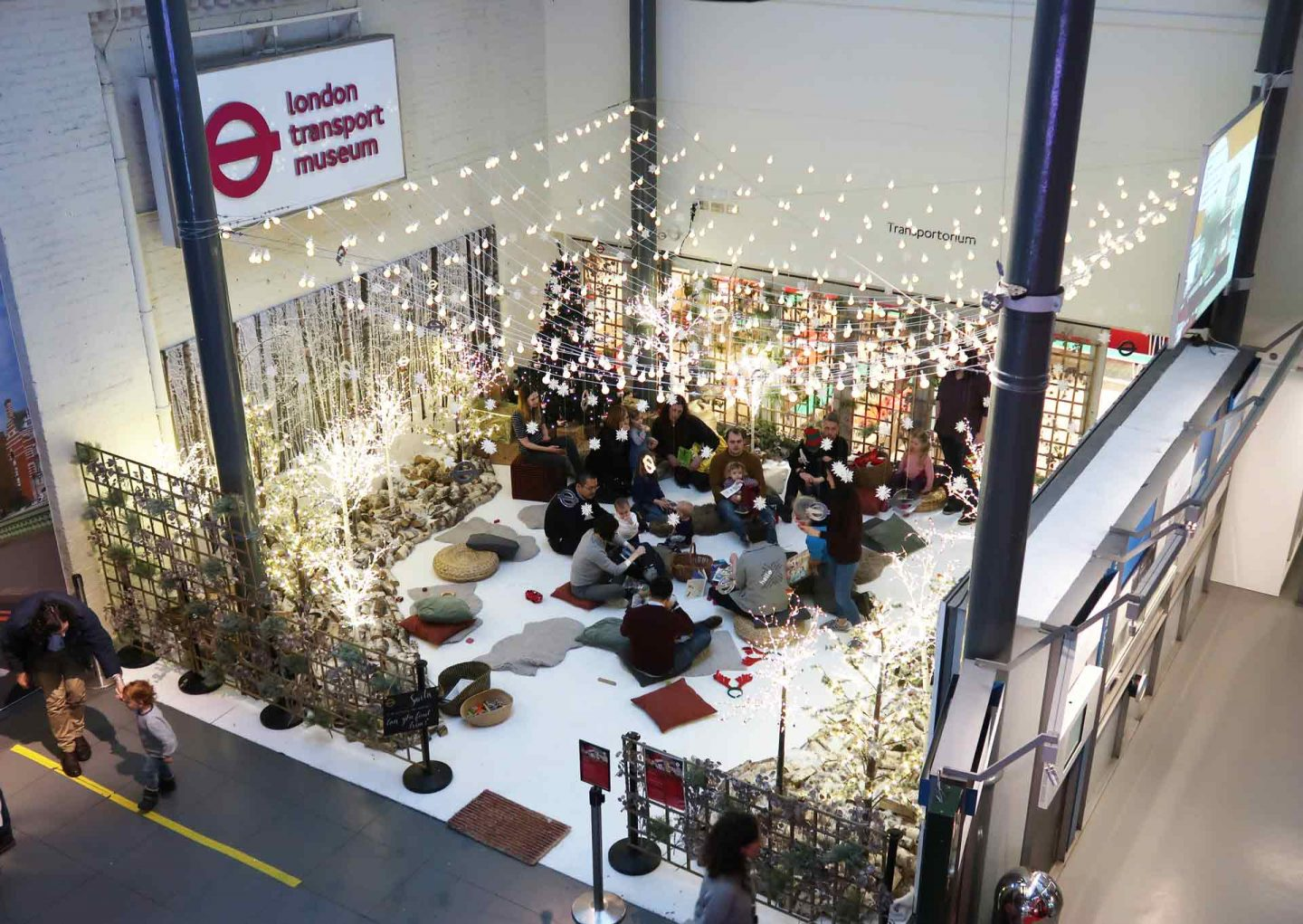 The corner of the London Transport Museum reserved for Christmas activities