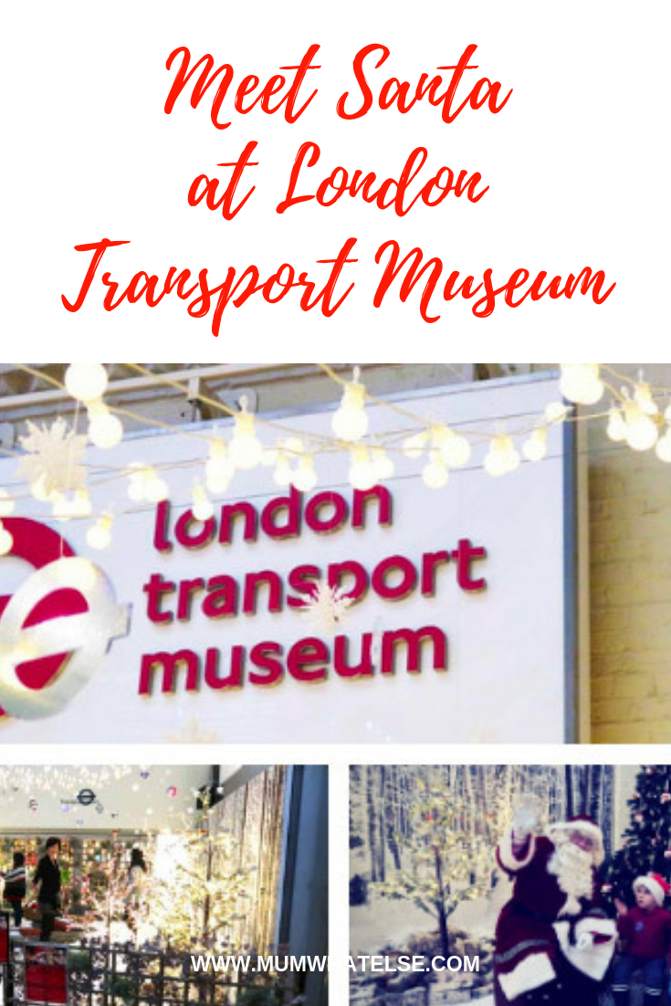 meet santa at london transport museum