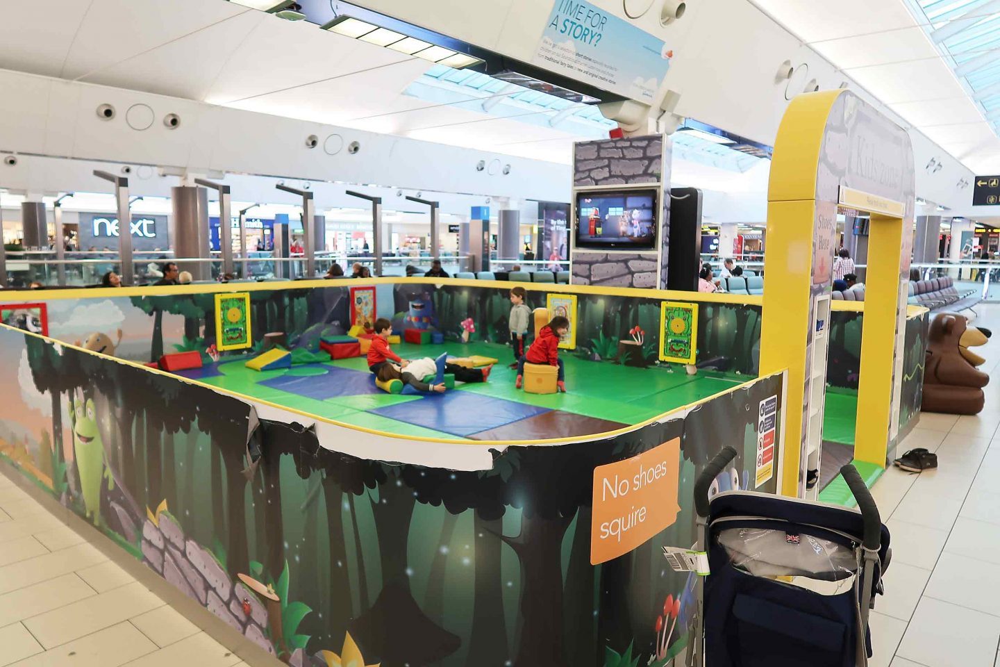 soft play area in gatwick airport