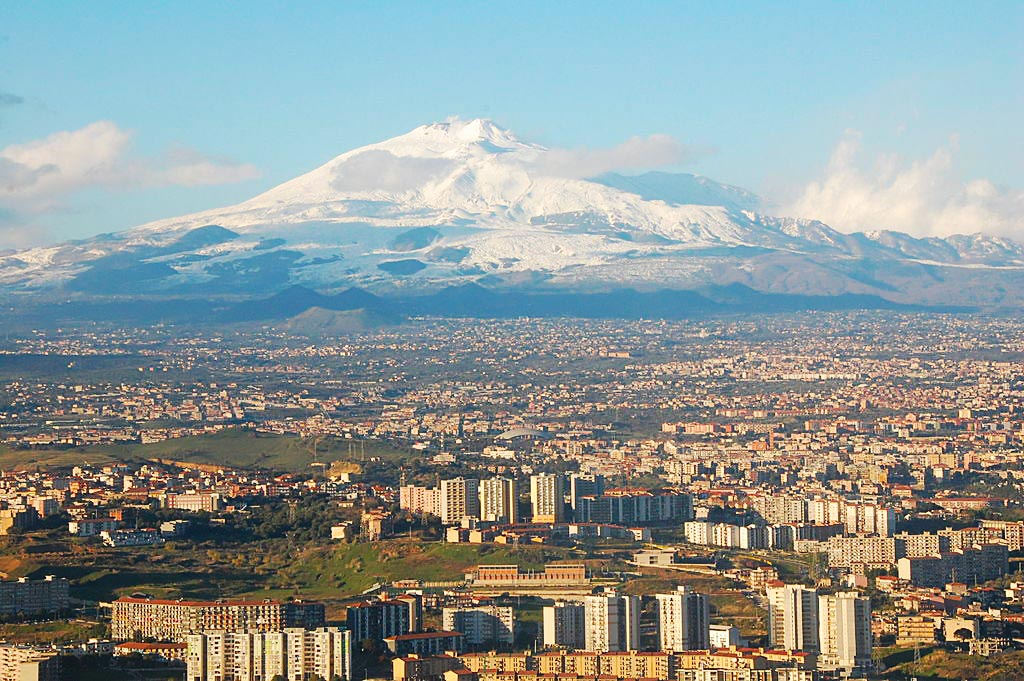 Catania and Etna in the background