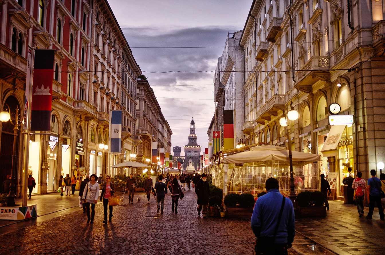 Milan and the Castello Sforzesco