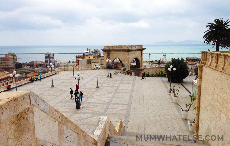 view of Cagliari from Bastioni