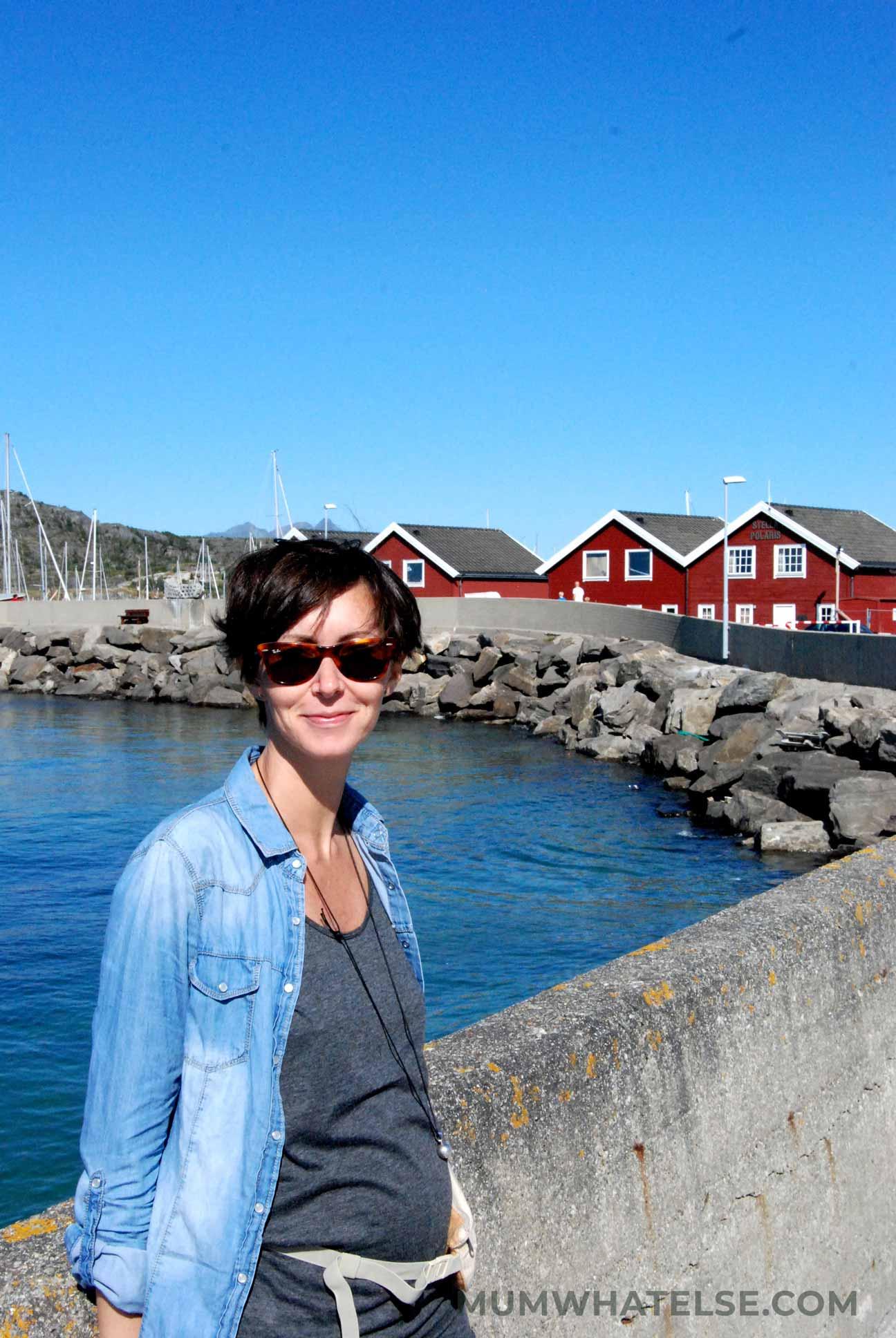 una donna incinta in Norvegia