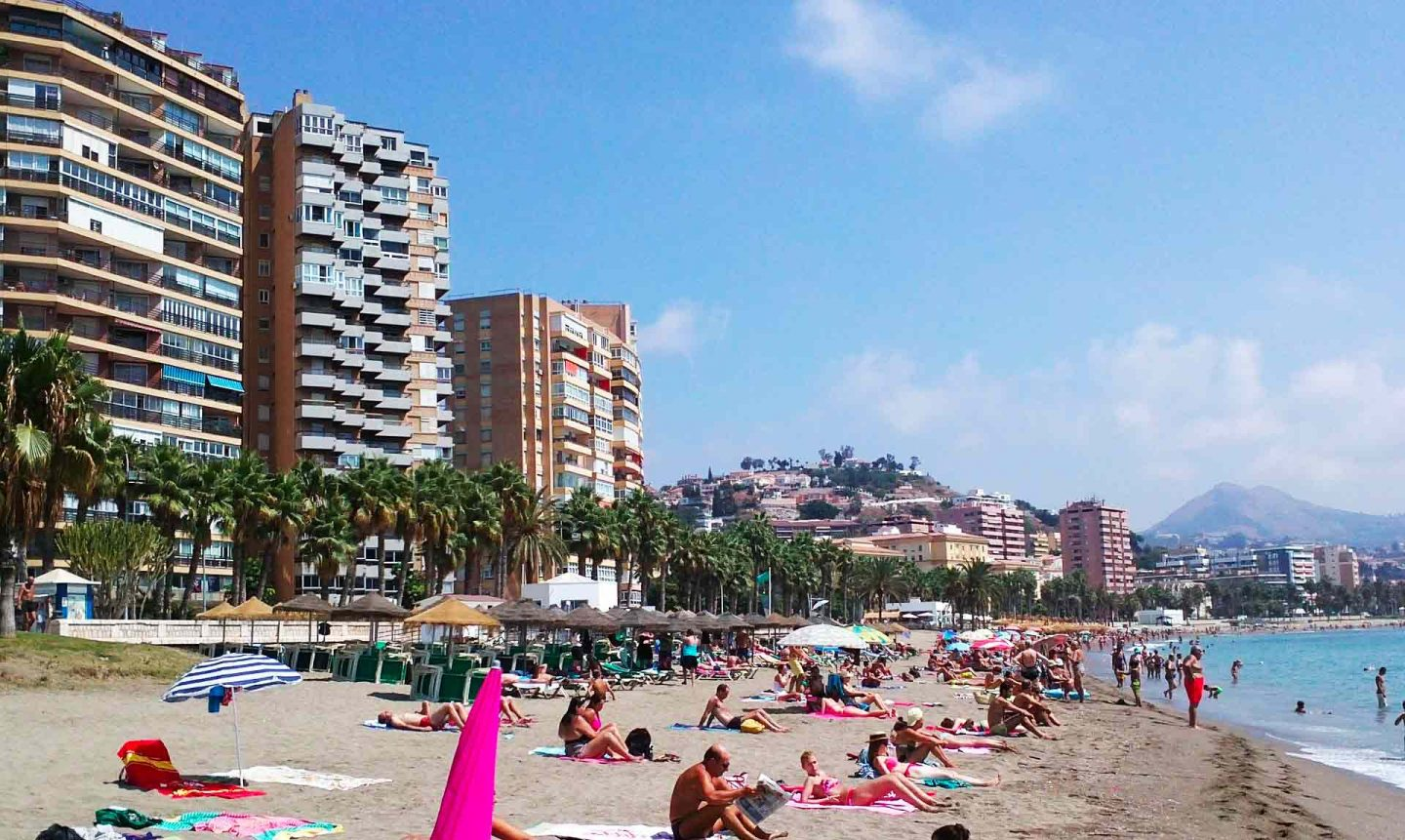 beach close to Malaga city centre