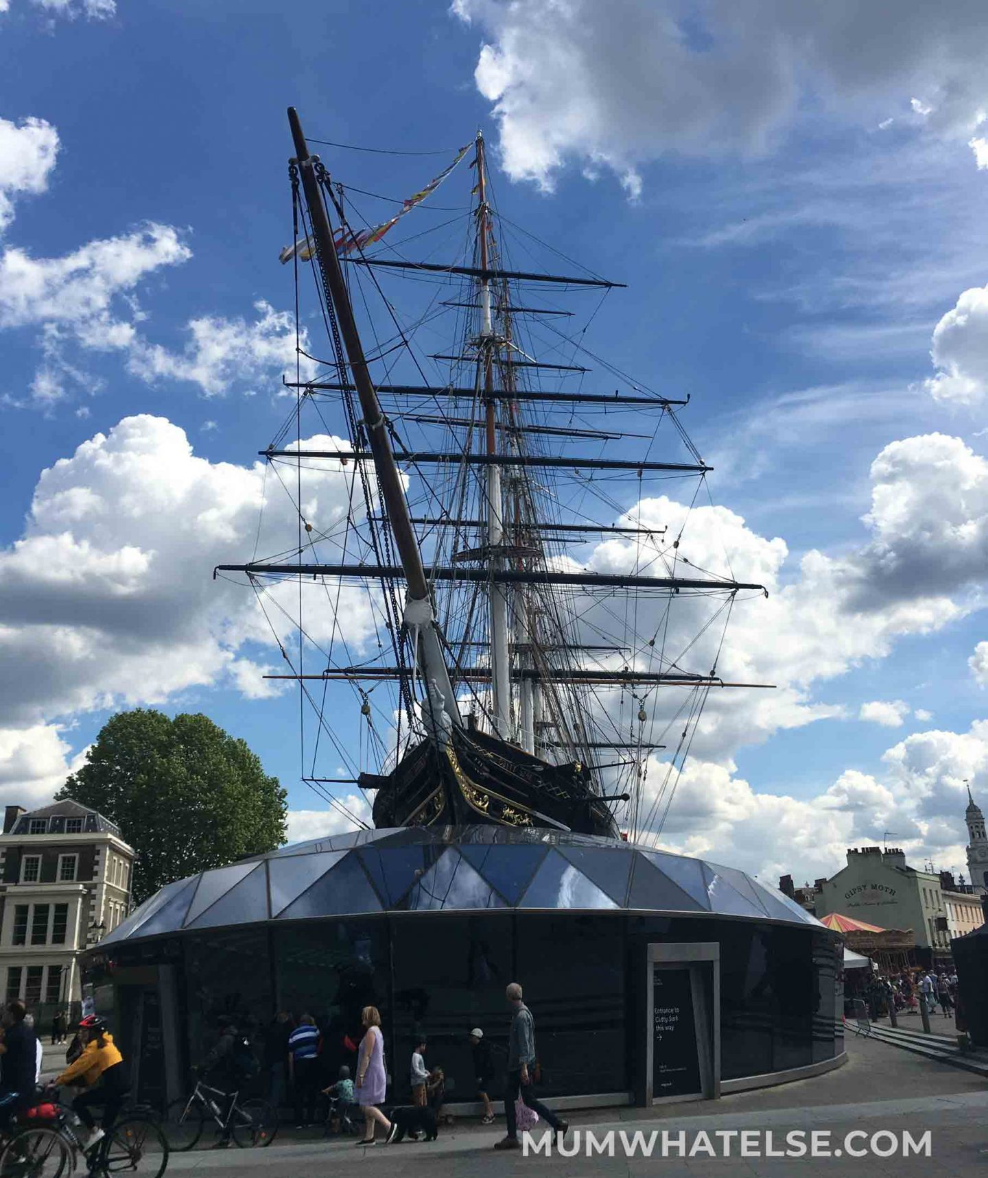 External view of the Cutty Sark