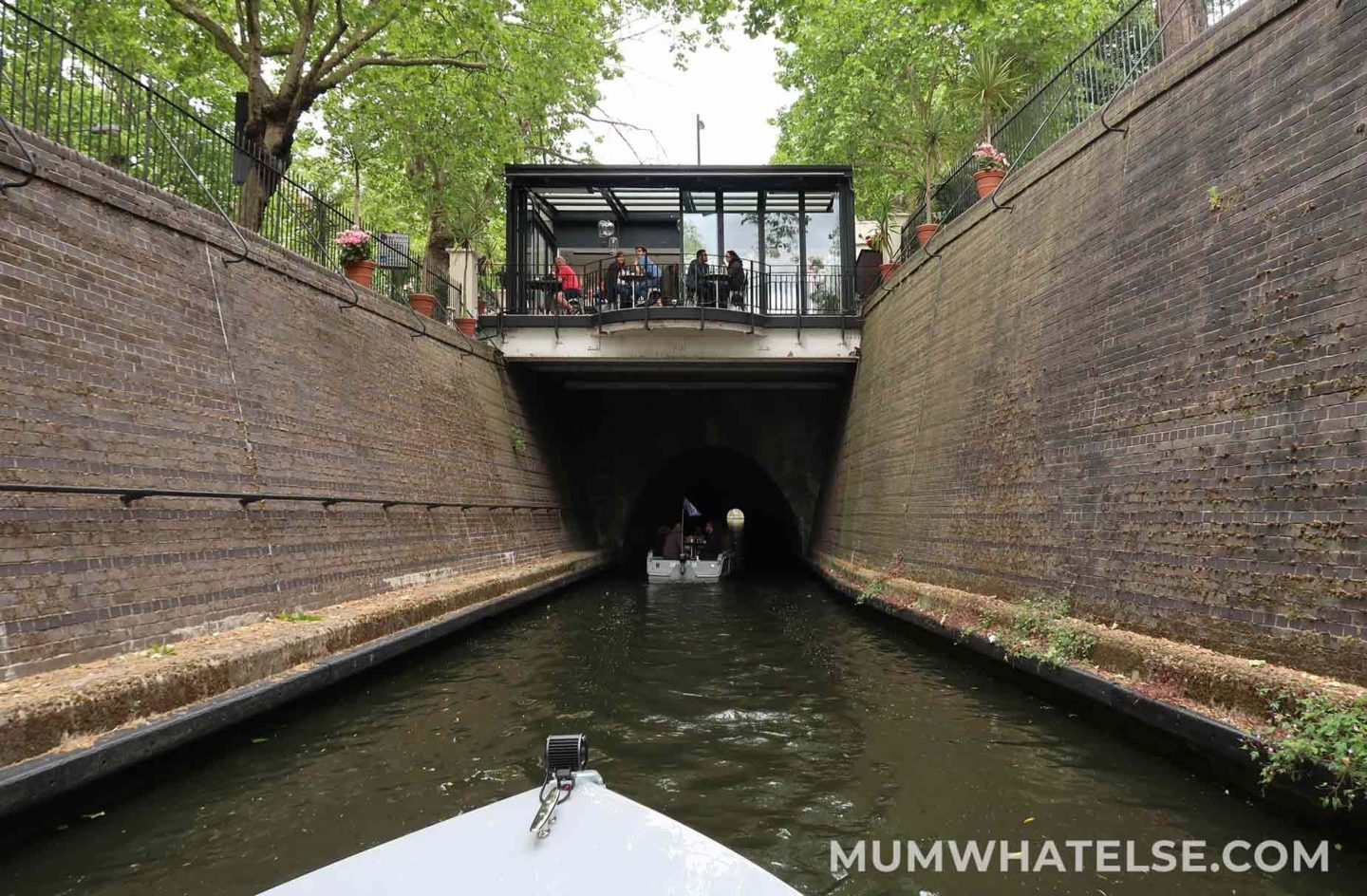 Cafe perched on the Maida Hill tunnel