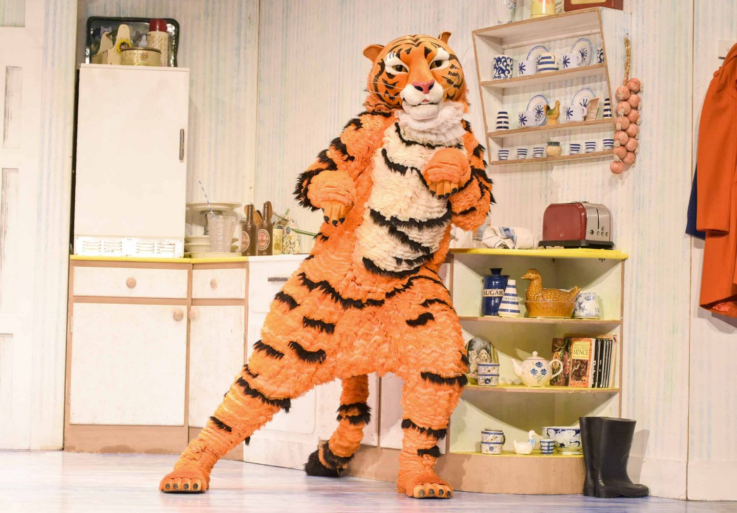 a tiger on stage
