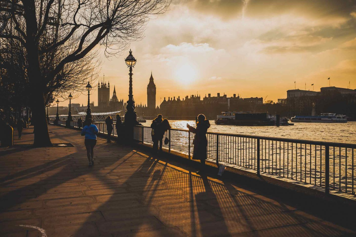 south bank at the sunset with big ben in the background