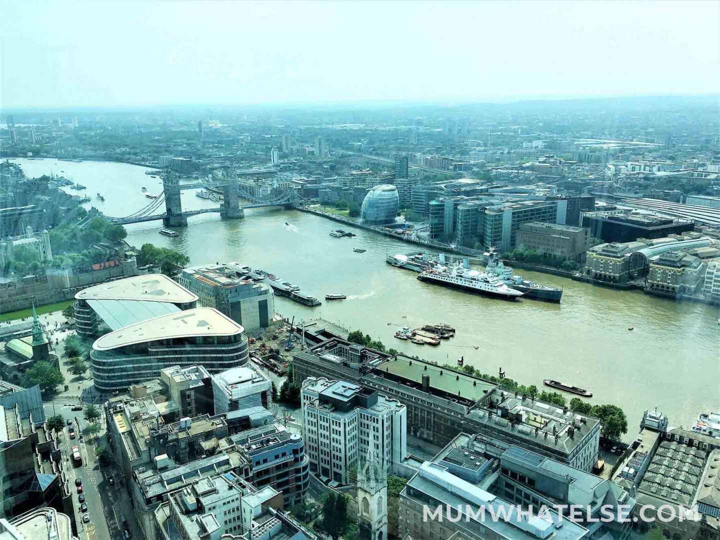 View of the Thames from The Sky Garden