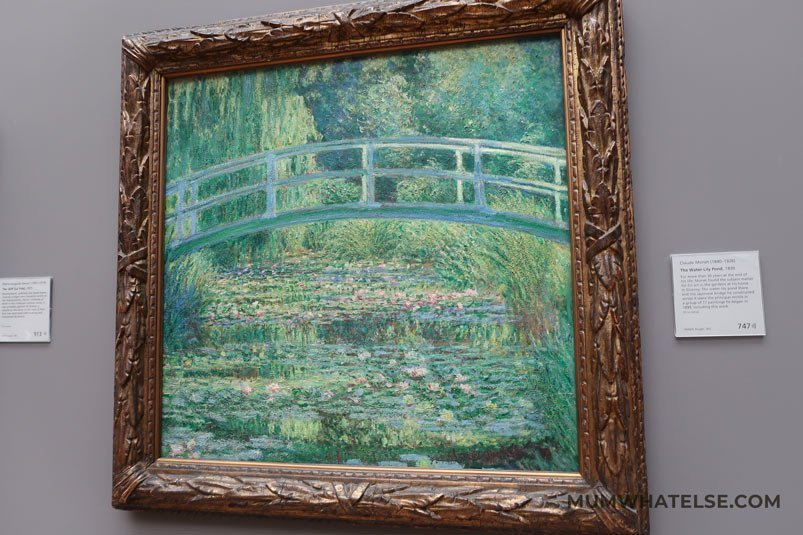 Claude Monet's Japanese bridge at the National Gallery