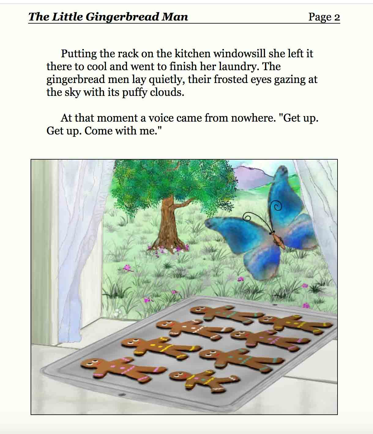 screenshot di un sito dove si leggono libri per bambini