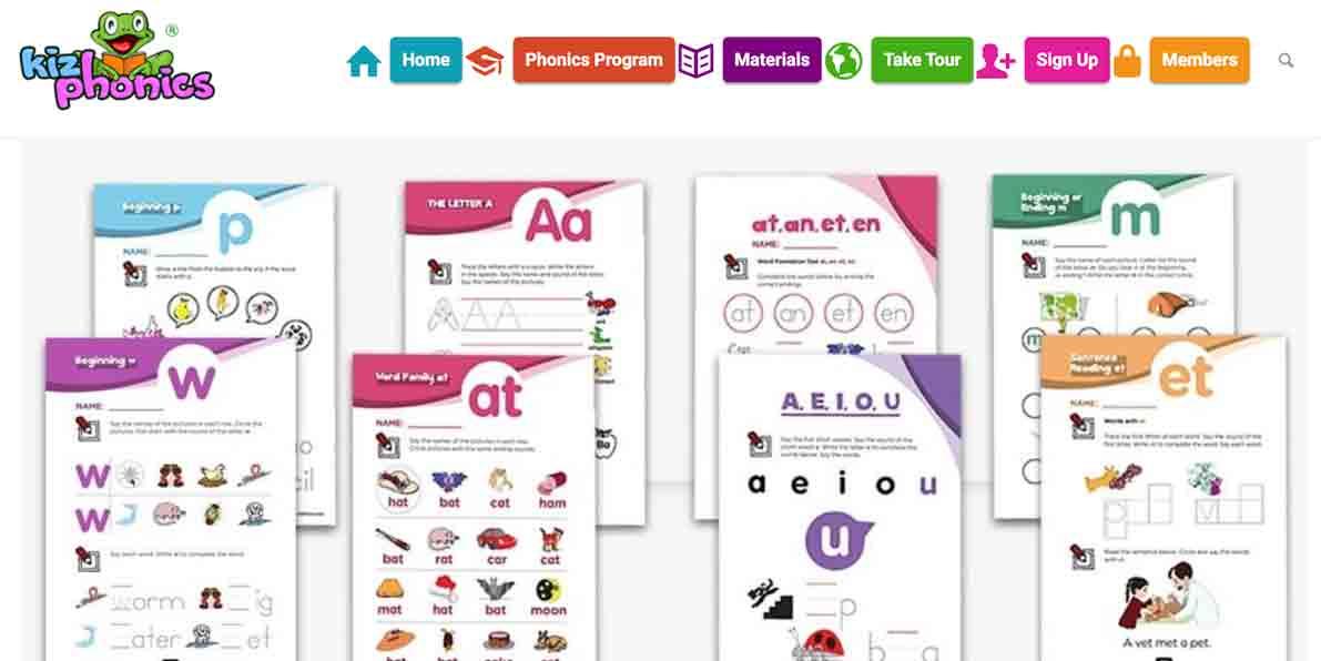 screenshot di un sito per imparare l'inglese