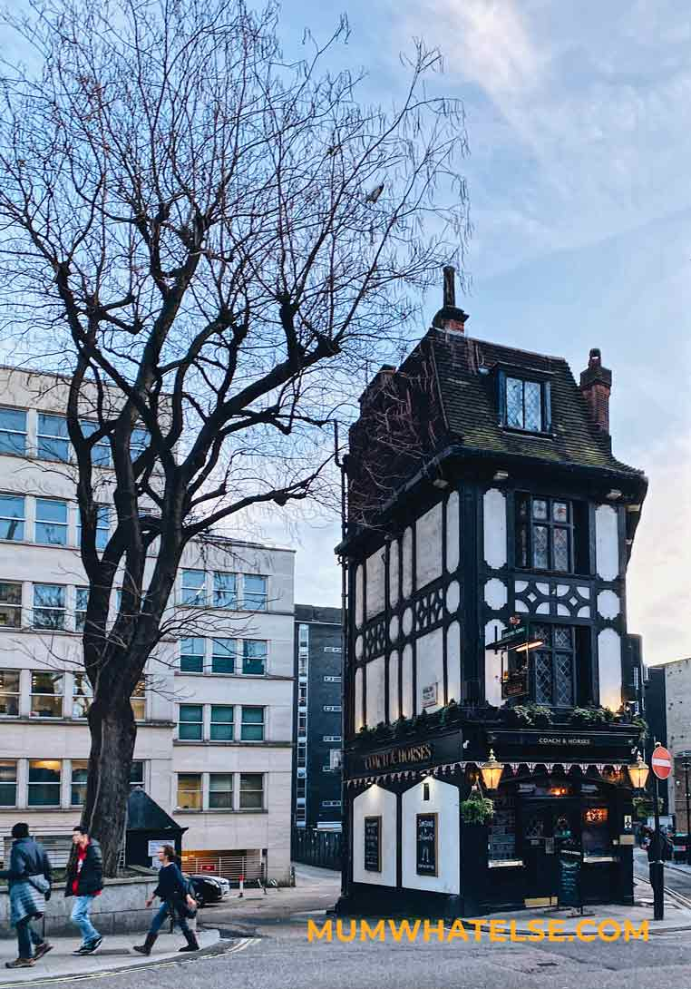 tudor style pub in London