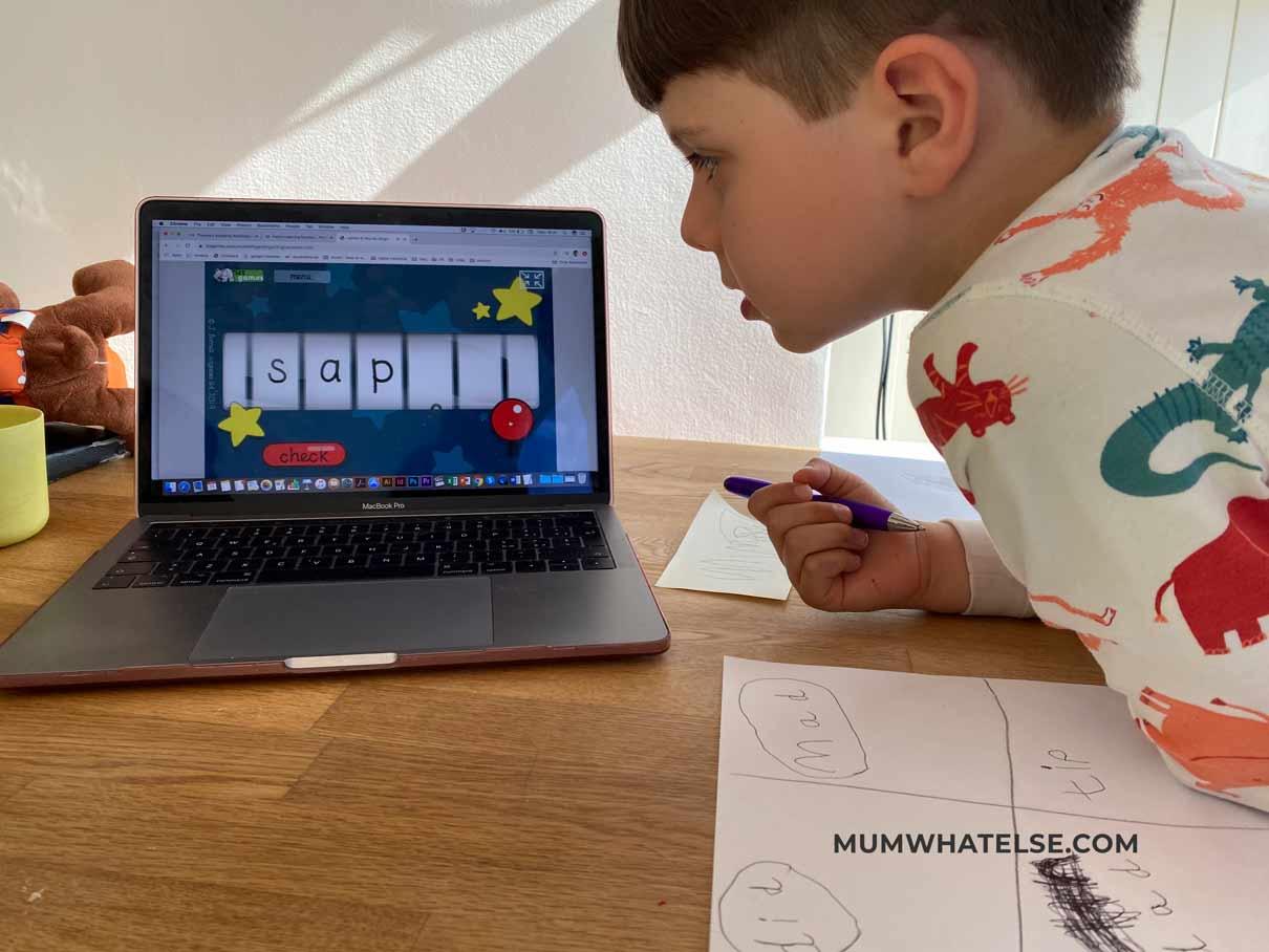 un bimbo che guarda lo schermo di un computer
